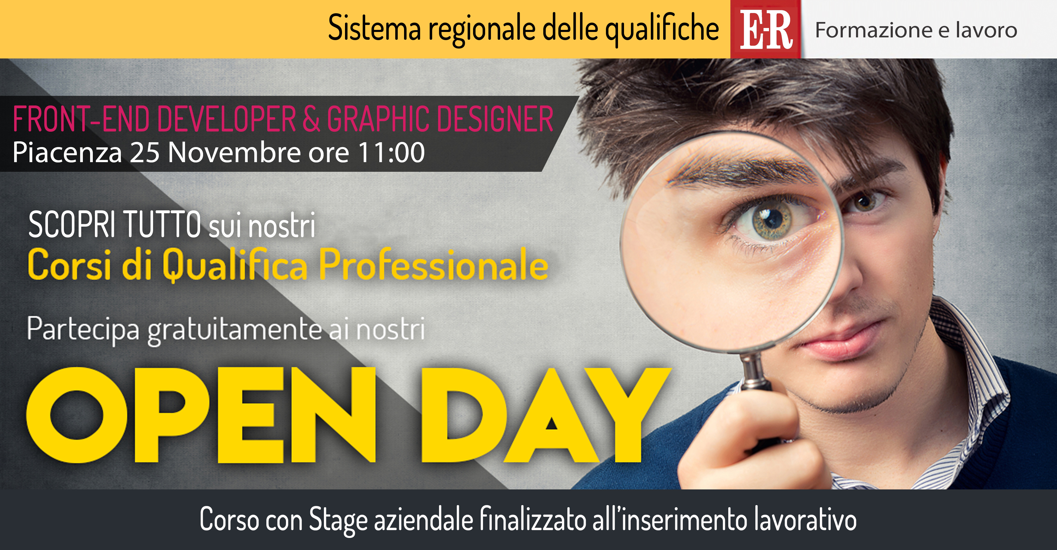 Open Day FRONT-END DEVELOPER & GRAPHIC DESIGNER
